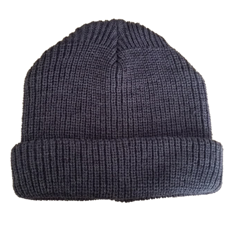 beanie made of wool or acrylic
